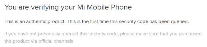 Проверка подлинности Xiaomi