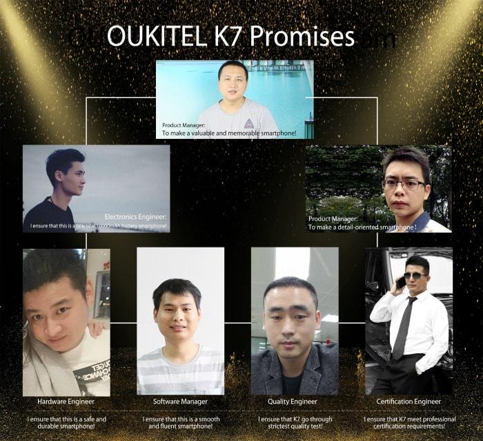 OUKITEL команда инженеров