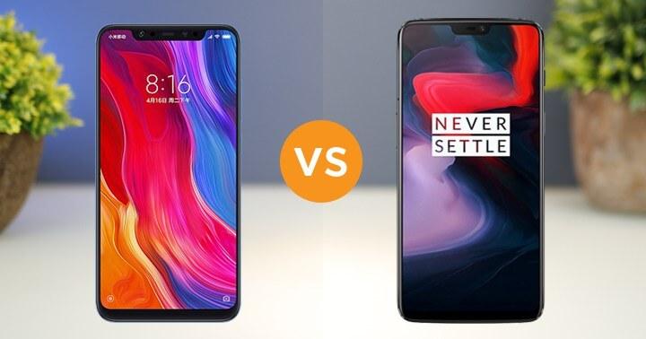 Сравнение характеристики Xiaomi Mi8 и OnePlus 6
