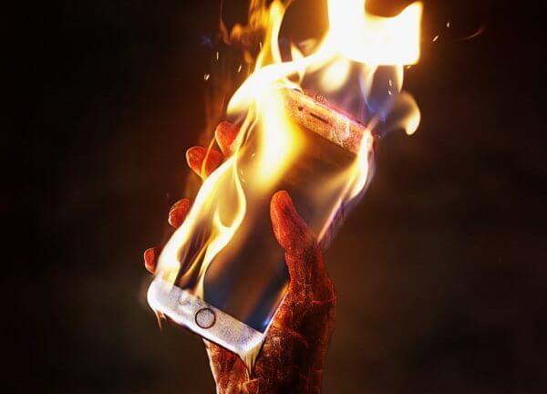 Нагревание телефона