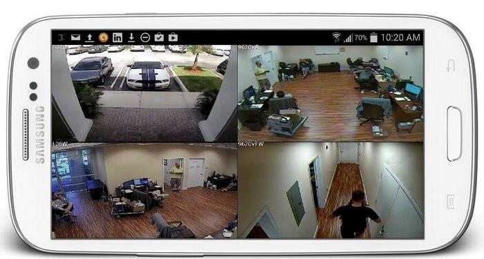 Камера видеонаблюдения из смартфон
