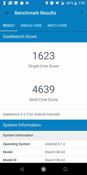 Xiaomi Mi A2 в AnTuTu