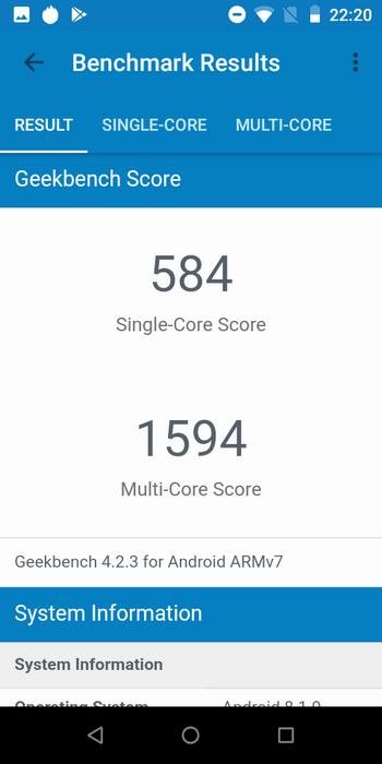 BQ-5515L Fast в Geekbench