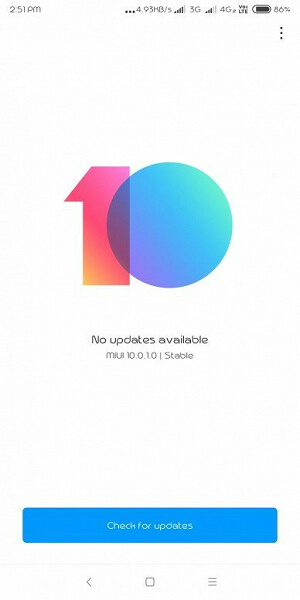Обновление MIUI 10 Global