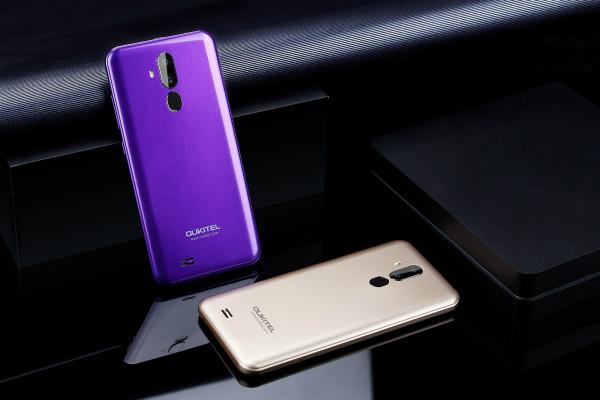 Oukitel C12 Pro в фиолетовом и золотом цвете