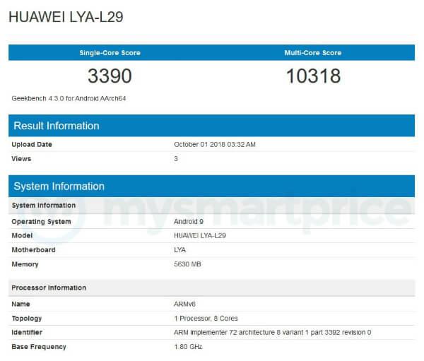 Бенчмарк Huawei Mate 20