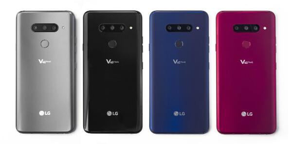 Цвета LG V40 ThinQ