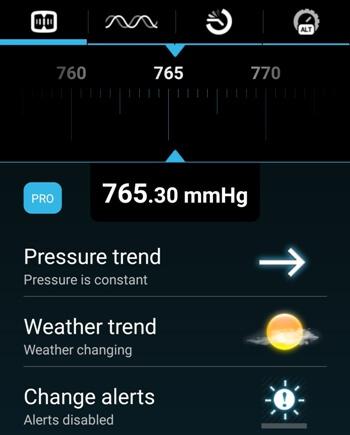 Приложение барометра на Android