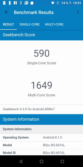 BQ-6016L Mercury в Geekbench