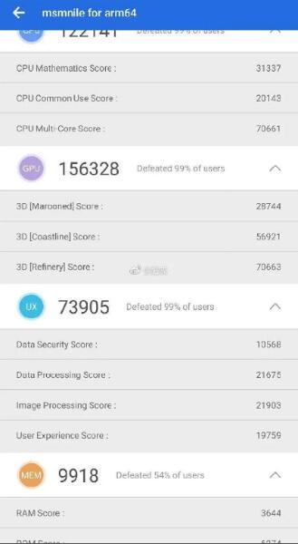 Snapdragon 8150 AnTuTu GPU