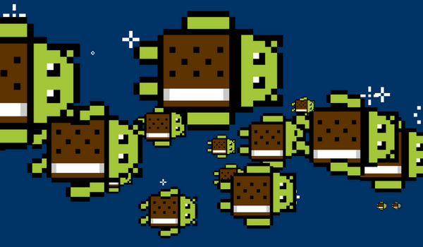 Пасхалка Android 4.0 Ice Cream Sandwich
