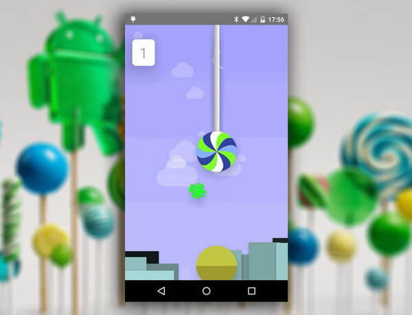 Пасхалка Android 5.0 Lollipop