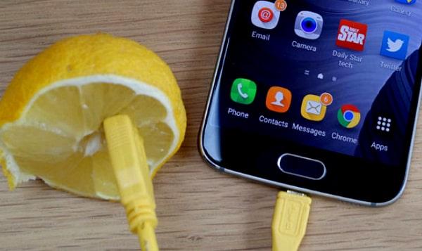 Зарядка смартфона от лимонов