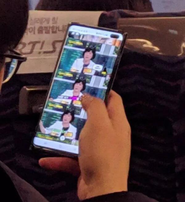 Живое фото Samsung Galaxy S10+