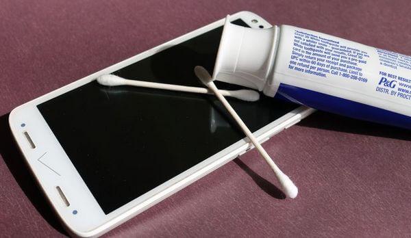 Зубная паста для экрана