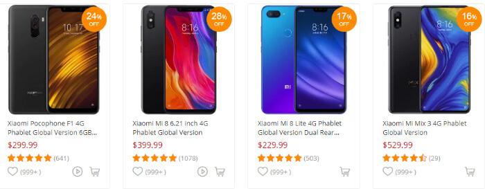 Распродажа смартфонов Xiaomi
