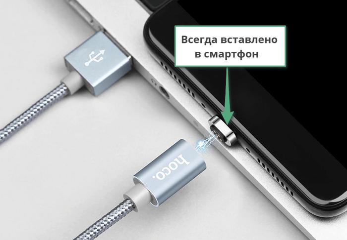 Магнитная зарядка для телефона