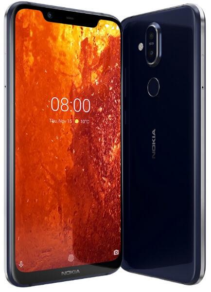 Nokia 8.1 спереди и сзади