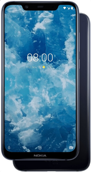 Nokia 8.1 спереди