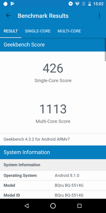 BQ-5514G Strike Power в Geekbench