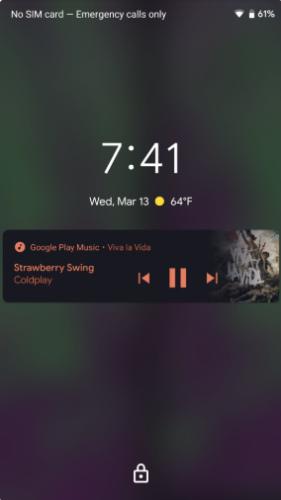 Android Q музыкальный плеер