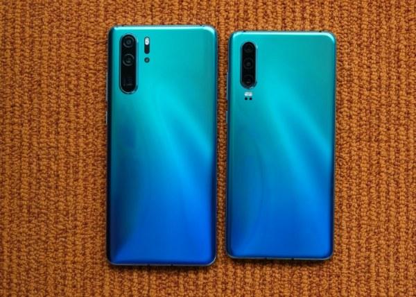 Huawei P30 и P30 Pro сзади