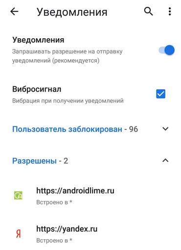 Уведомления в браузере
