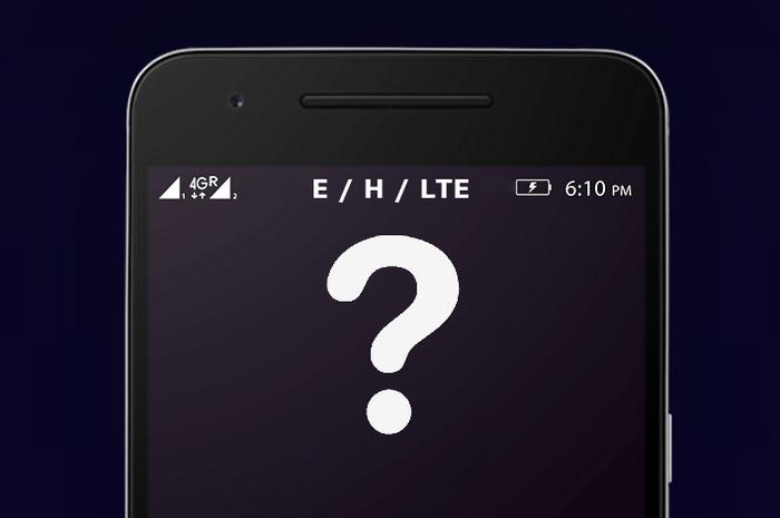 E, H и LTE в телефоне