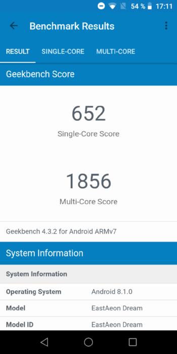 Turbo X Dream 4G в Geekbench
