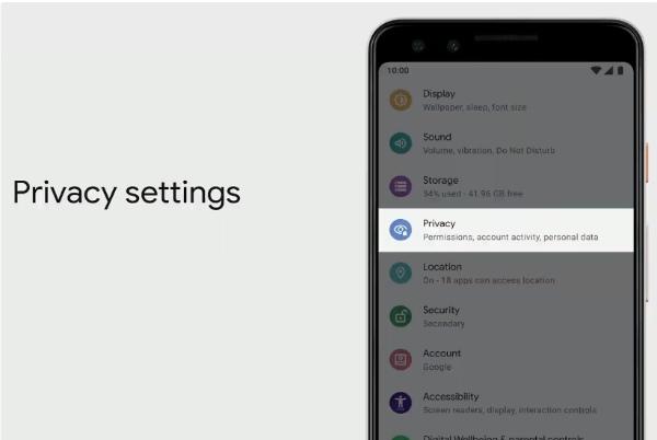 Android Q настройки конфиденциальности