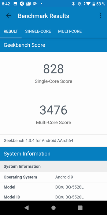 BQ-5528L Strike Forward в Geekbench