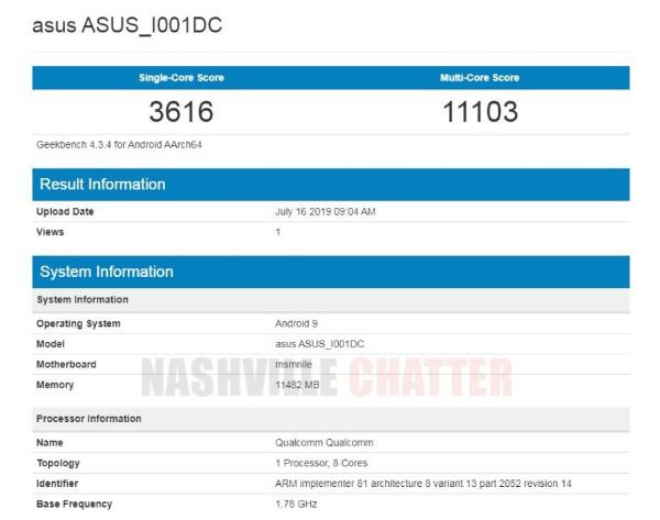 ASUS ROG Phone 2 на Snapdragon 855 Plus в Geekbench