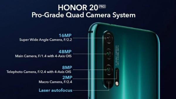 Основная камера Honor 20 Pro