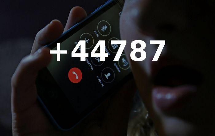 Звонки с номеров +44787