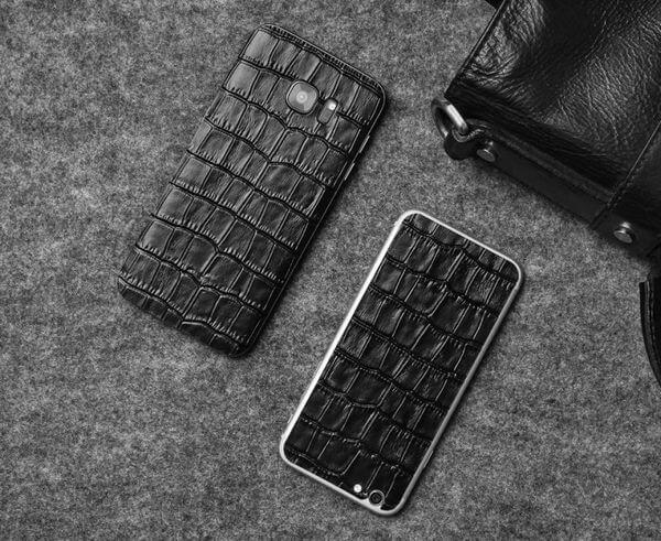 Кожаные наклейки на телефон