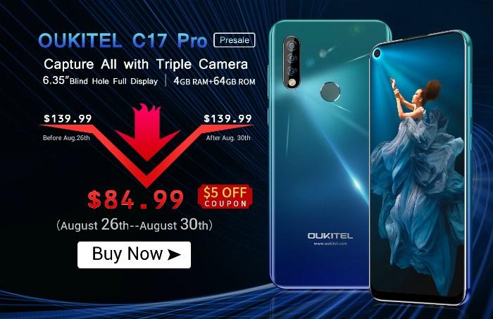 Глобальная предпродажа Oukitel C17 Pro