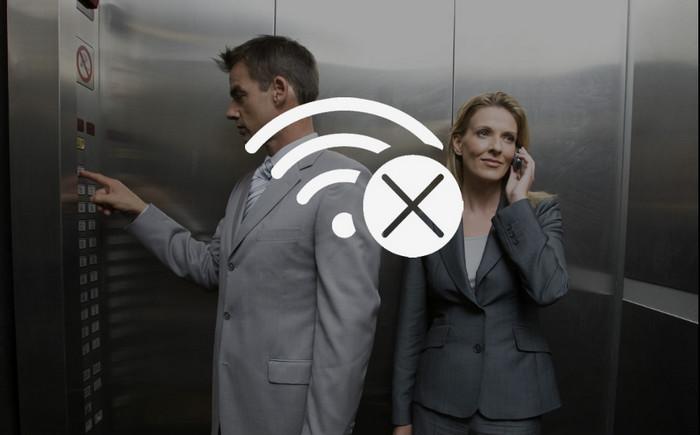 Не работает интернет в лифте