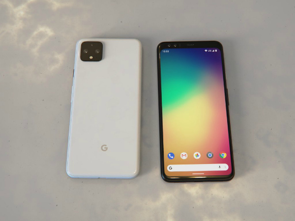 Google Pixel 4 XL спереди и сзади