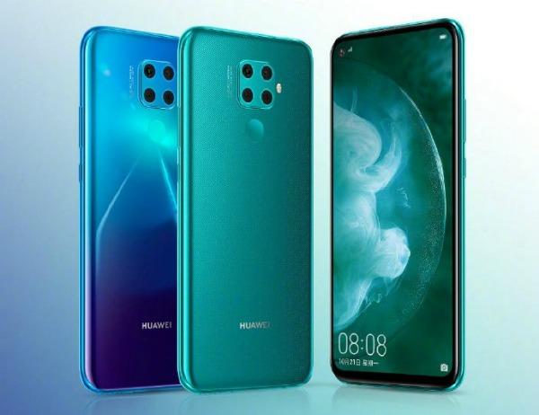Huawei Nova 5z спереди и сзади