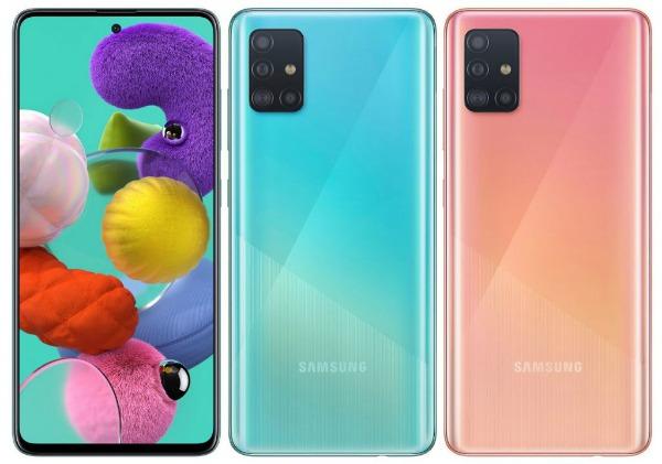 Samsung Galaxy A51 спереди и сзади