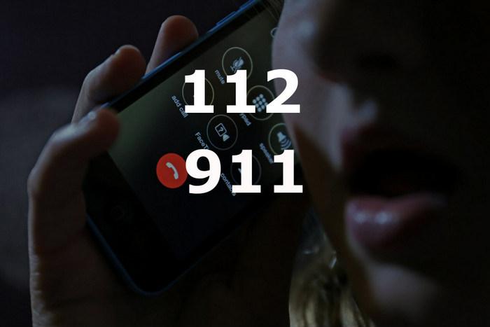 Телефоны 112 и 911