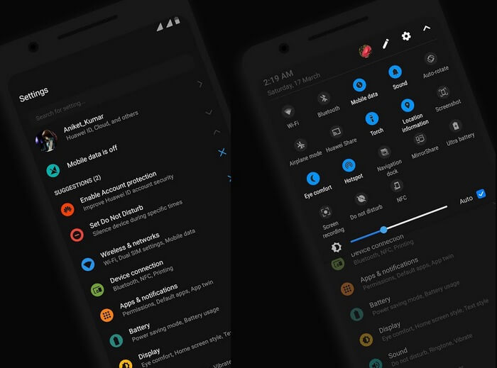 Темная тема Android