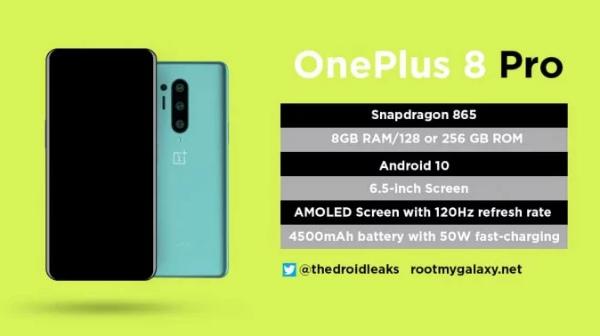 Дизайн и цвет OnePlus 8 Pro
