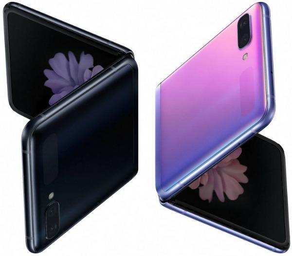 Samsung Galaxy Z Flip спереди и сзади