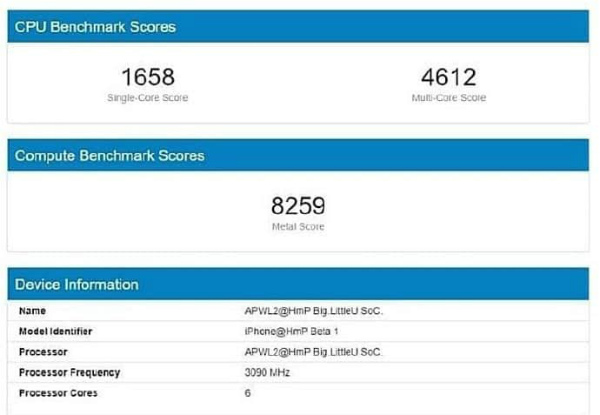 Apple A14 Bionic в Geekbench 5