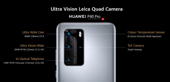 Основная камера Huawei P40