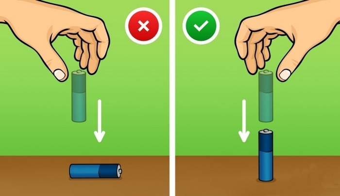 Проверить батарейку