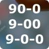 90-0, 9-00 и 9-0-0