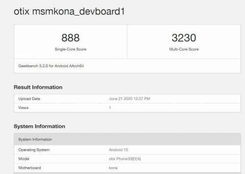 Xiaomi Otix в Geekbench