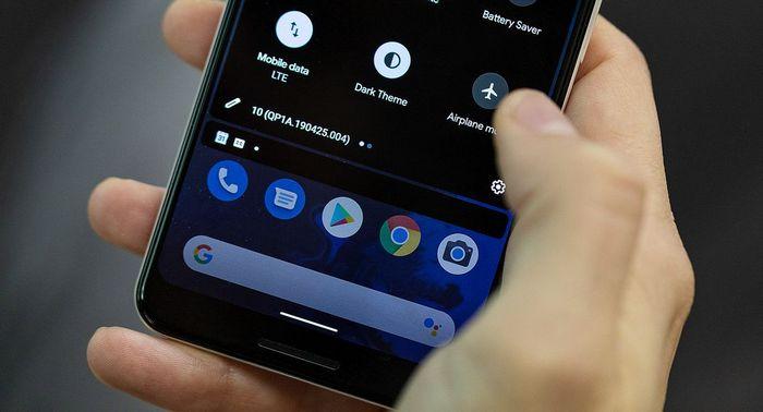 Жесты на Android 10